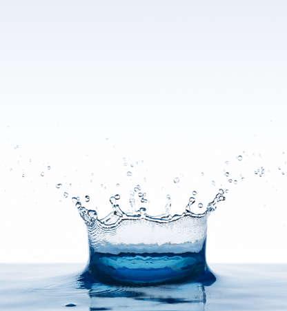 Beautiful splash of blue water