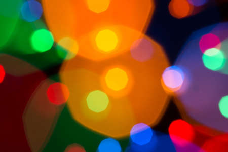 Abstract picture of bright colored dynamic lights