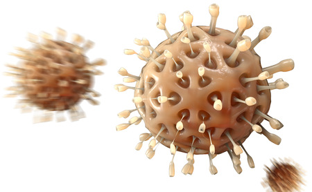 antiviral: Virus. Bacteria.Viruses in infected organism , viral disease epidemic. 3d render