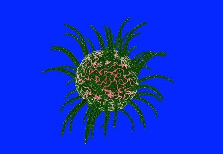 viruses: Viruses in infected organism , viral disease epidemic , Outbreak. 3d reander Stock Photo