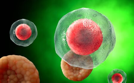 viral disease: Virus. Bacteria.Viruses in infected organism , viral disease epidemic. 3d render