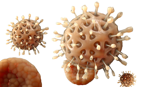 epidemic: Virus. Bacteria.Viruses in infected organism , viral disease epidemic. 3d render