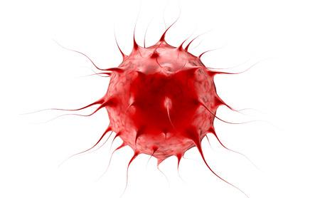 Virus. Bacteria.Viruses in geïnfecteerde organisme, virale epidemie. 3d render