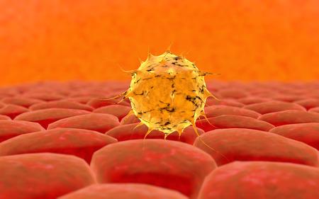 organism: Virus. Bacteria.Viruses in infected organism , viral disease epidemic. 3d render