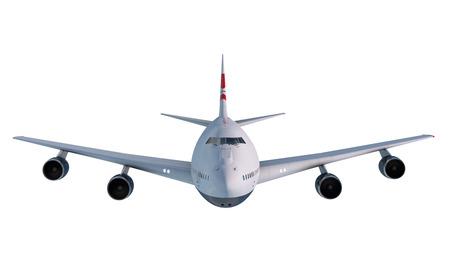 雲の中を飛ぶボーイング 747。