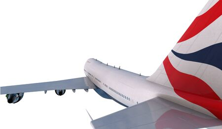boeing 747: Boeing 747  flying in the clouds. Archivio Fotografico