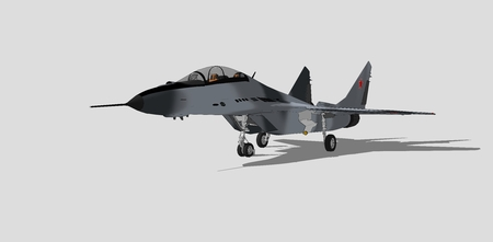 mig: mig 29, russian military aircraft, fighter jet, sketch.