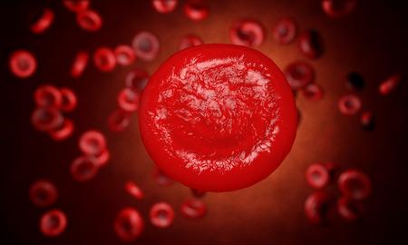 celulas humanas: Eritrocitos, las células rojas de la sangre, la anatomía concepto médico. en el interior humano organism.realistic render Foto de archivo