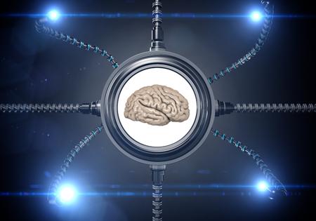 scifi: Futuristic sci-fi metal element . Futuristic monitor, display. Future concept