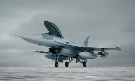 fighter plane: F 16 , american military fighter plane.
