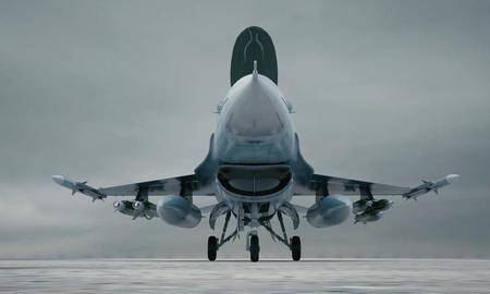 avion de chasse: F 16, am�ricain avion de chasse militaire. Banque d'images
