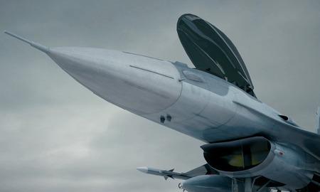 avion chasse: F 16, américain avion de chasse militaire. Banque d'images