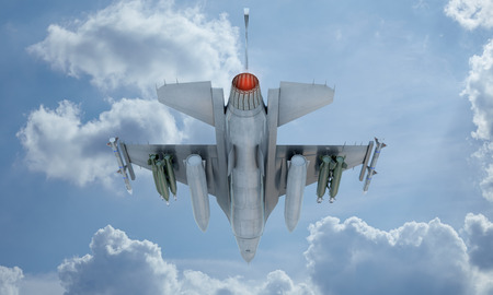 f 16: jet F-16 fly in the sky Stock Photo