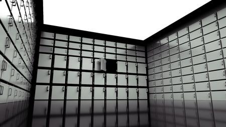 銀行の金庫室の扉。銀行の内部。ビジネス コンセプトです。