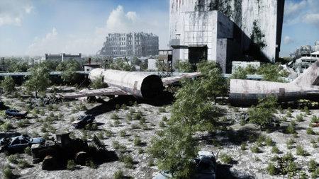Apocalipse view. Armageddon view. concept. 3d rendering. Stok Fotoğraf