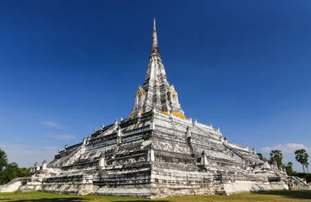 Wat Phu Khao Thong buddhist temple in Ban Pom,Ayutthaya,Thailand