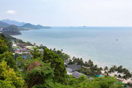 View point for tourist to see beautiful scenery,seascape at Koh Chang,Trat,Thailand