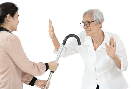 Asian senior refuses to use the walking stick,healthy old elderly after taking health supplement,illustration for products,advertising calcium or vitamin for nourishing the body and bones,health care