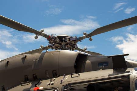 rotor: Main rotor blade helicopter Stock Photo