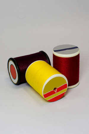 bobbin: Colour bobbin thread Stock Photo