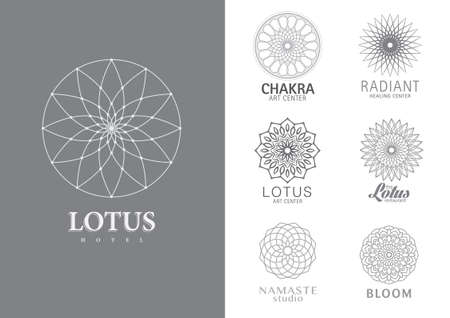 Floral Mandala style symbol template