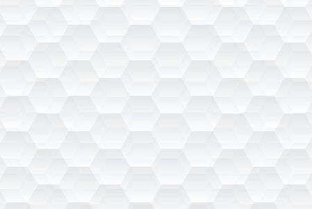 Abstract white hexagons texture. Abstract light hexagonal background. Stylish and creative pattern background design 矢量图像