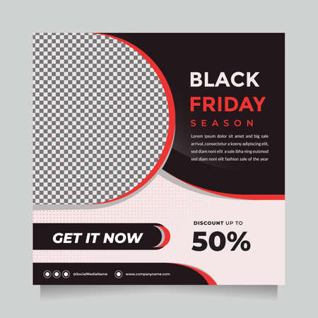 Black friday season sale social media post and web banner template for digital marketing. Editable promotion design brand fashion and other product.