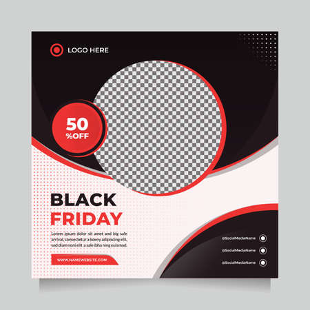 Clean and Creative Black friday season sale social media post and web banner template for digital marketing. Trendy editable template for promotion product