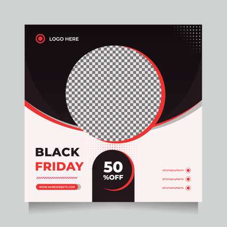 Creative and Minimalist Black friday season sale social media post and web banner template for digital marketing. Trendy editable template for promotion product