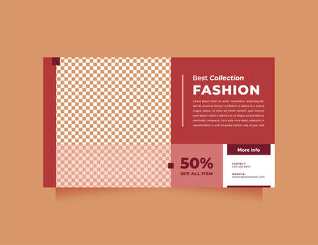 Modern red design social media and web banner template for digital marketing. Creative, minimalism and trendy style promotion concept