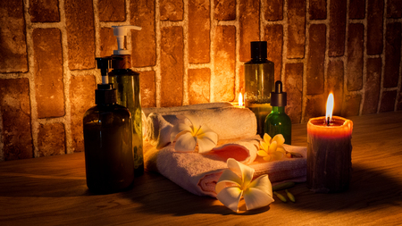 Candle light Of Spa Health Massage Stockfoto