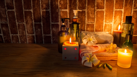 Candle light Of Spa Health Massage Stock Photo