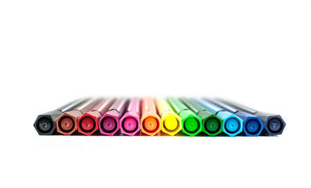 colorful pens,background,rainbow photo