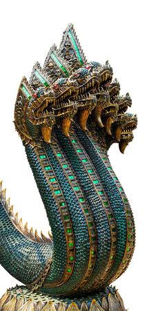piastrine: Re dei Naga statua con sette teste