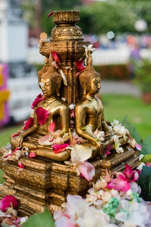 Statue of Buddha in Thai temple
