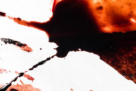 Drops of blood on a white background