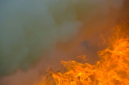 A big flame,fire plan rehearsal