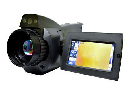 A thermographic camera (also called an infrared camera or thermal imaging camera or infrared thermography) is a device that forms a heat zone image using infrared radiation.