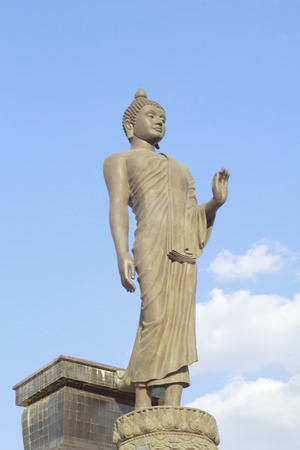 Stock Photo - back of golden buddha statue