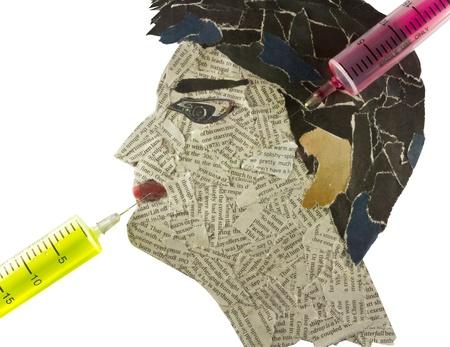 Human head need an injection Stock Photo - 11266957