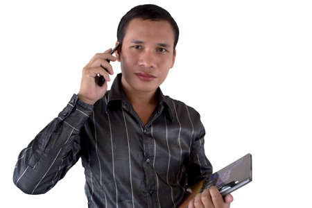 young business man on the phone Stock Photo - 11784865