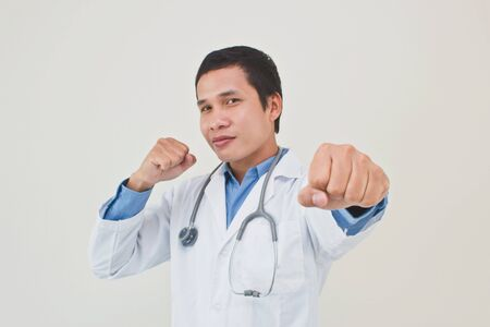 doctor fighter Stock Photo - 11872410