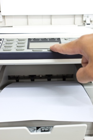 hand doing photocopy photo