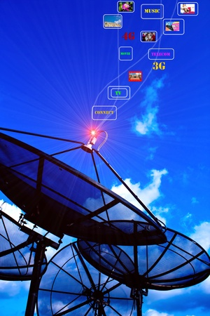 satellite tv: sattelite power Stock Photo