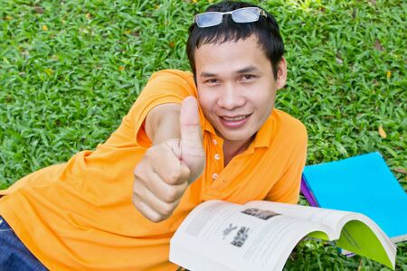 man showing thumb up Stock Photo - 12798773