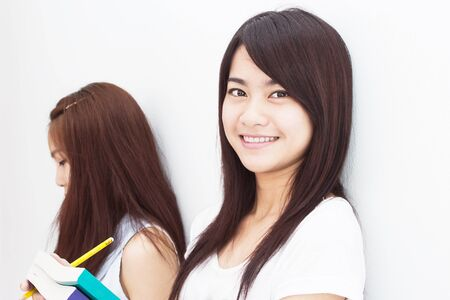 Étudiant asiatique Banque d'images
