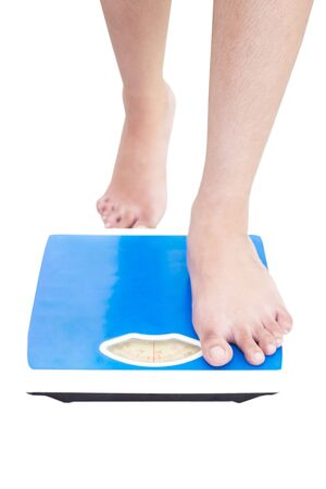 Woman On Weight Scale Stock Photo - 14955274