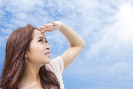Girl Protecting Her Skin From Sun