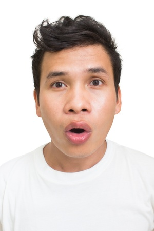 Oh Wow,Asian Man With Shocked Face photo