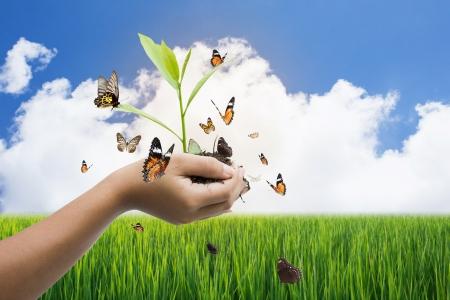 Global Warming und die Welt retten Konzept